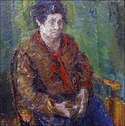 Portrait of Ros seated     oil on board    92x92cms     2012.jpg