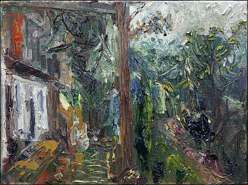 The terrace at Les Roquettes        oil on canvas     23x35cms     2013.jpg